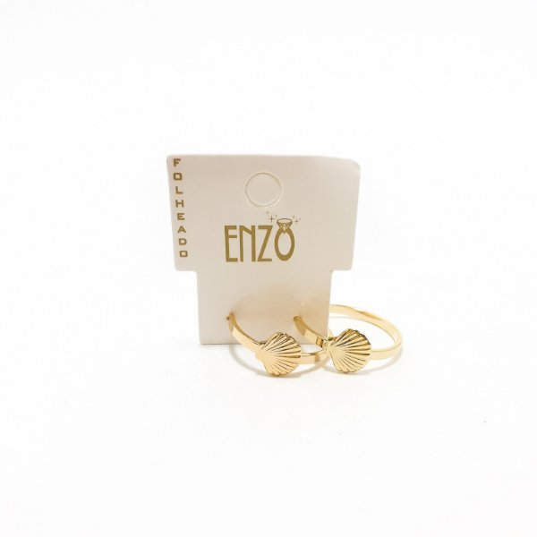 Brinco Argolinha Dourado Concha - REF: PT0329