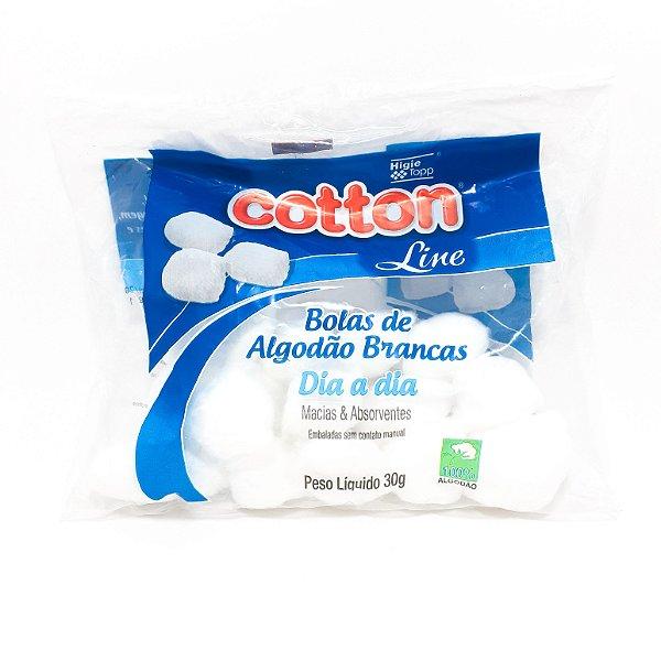 Pacote de Algodão Branco Bolinhas 50g - Cotton
