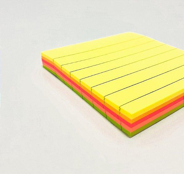Bloco Adesivo De Anotações Com Pauta Colorido Com 100fls Stick Note - InterPonte