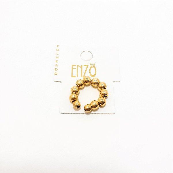Piercing De Pressão Bolinha Dourada
