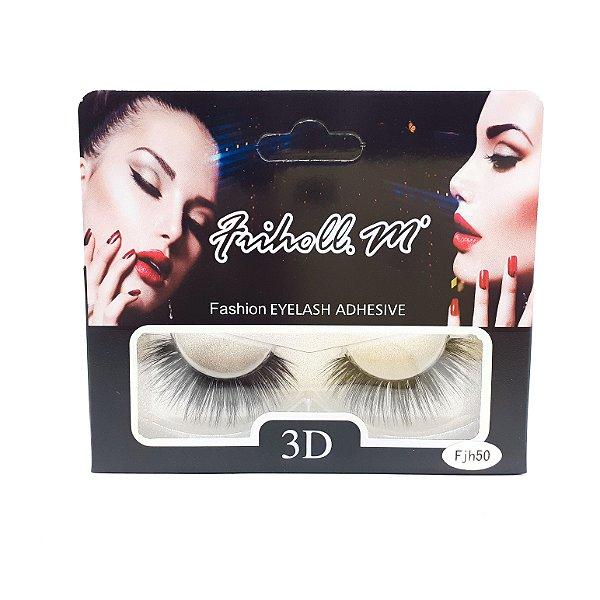 Caixa Com 1 Par De Cílios Postiços 3D Fjh50 - Friholl.m
