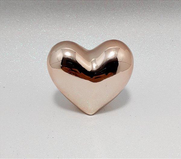 Enfeite Decorativo De Cerâmica Rose - Temático Coração