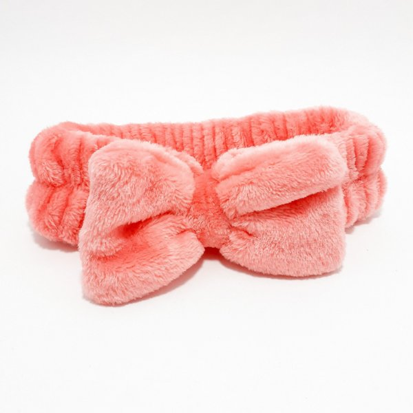 Faixa Tiara De Proteção Para Cabelo Pré Maquiagem De Veludo - Rosa