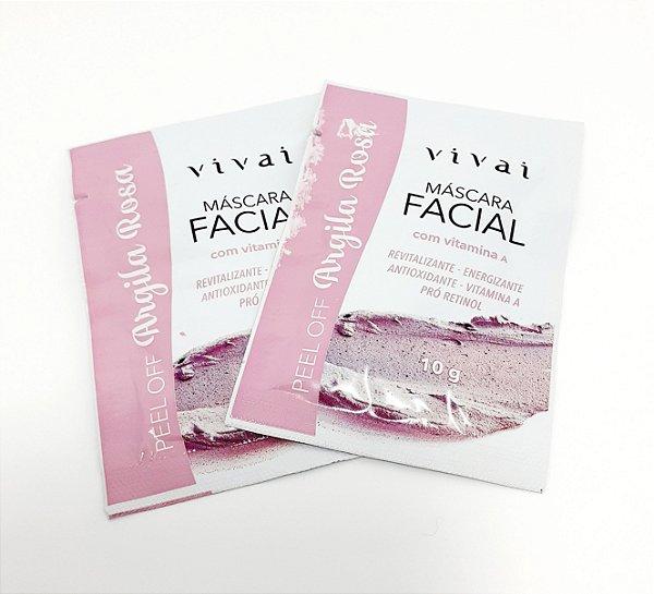 2 Sachês Máscara Facial Argila Rosa 10g - Vivai