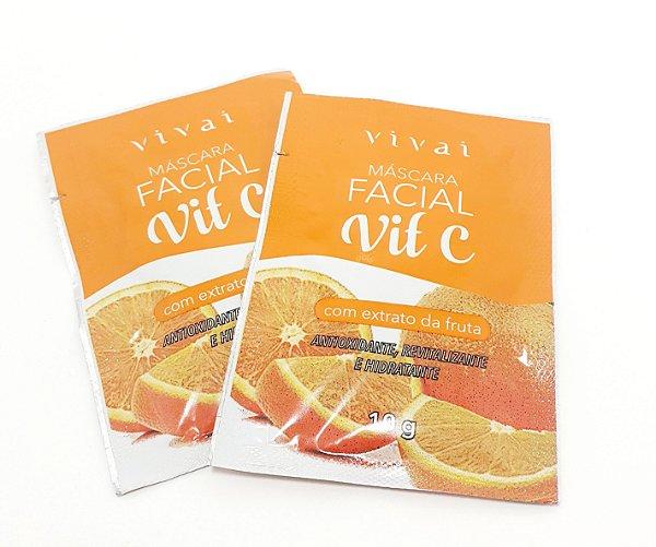 2 Sachês Máscara Facial Vit C 10g - Vivai