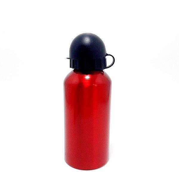 Garrafa De Alumínio Vermelha Com Tampa - 350ml