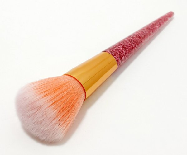 Pincel Para Blush Com Cabo Glitter - Rosa