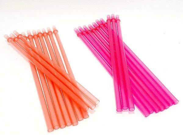 Pacote De Canudos Em Plástico Com 10 Unidades - Interponte