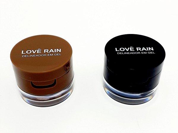 Delineador Em Gel 2 Em 1 - Love Rain