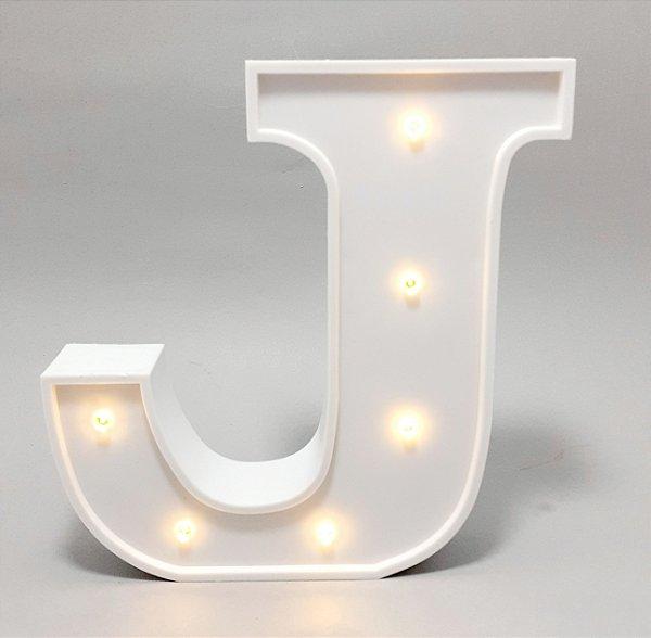 Luminária De Plástico Letra J - Branco