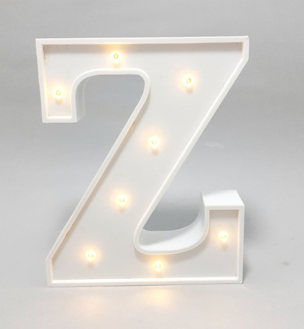 Luminária De Plástico Letra Z - Branco