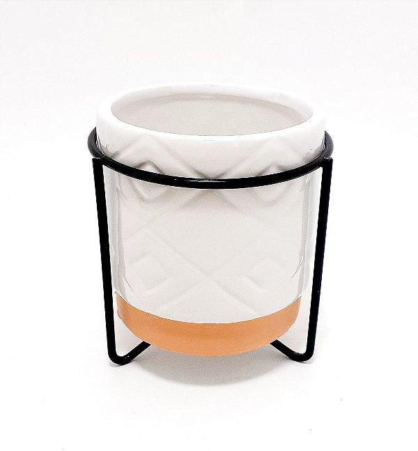 Vaso Decoratico De Cerâmica Com Suporte