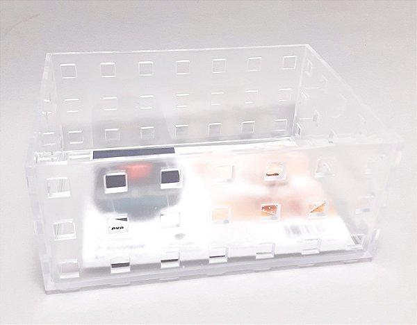 Caixa Organizadora Multiuso De Plástico Transparente 14cm x 10cm  - Clink