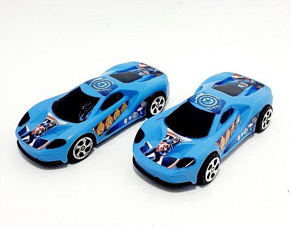2 Carrinhos Azuis De Brinquedo Personagens - Os Vingadores - Etitoys