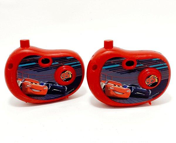 2 Câmeras Fotográfica Infantil Com Imagem Dos Carros - Vermelho - Etitoys