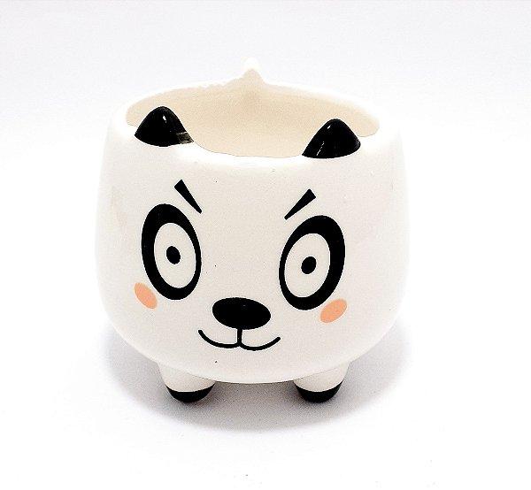 Vaso De Cerâmica Decorativo Branco - Temático Panda