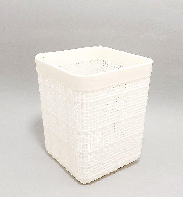 Cestinha Organizadora De Plástico Furadinha Creme - Clink