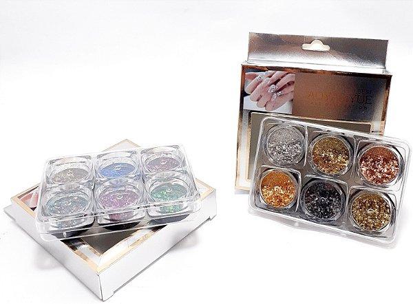 Glitter Flocado Para Unhas Com 6 Cores - Aoyasiyue
