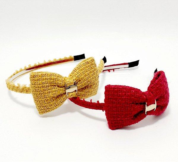 Tiara Para Cabelo Com Laço Rústico - Colorido