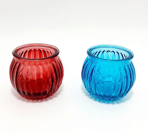 Castiçal Para Velas de Vidro - Colorido