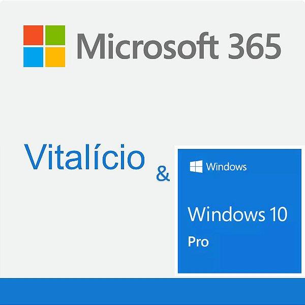 Microsoft 365 Para 5 PCs ou Macs & Windows 10 Pro  -  1PC/1MAC
