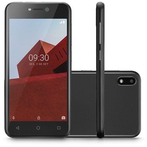 Smartphone Multilaser E 3G 16GB Tela 5.0 Quad Core Câmera Traseira 5MP + 5MP Frontal Preto - P9101