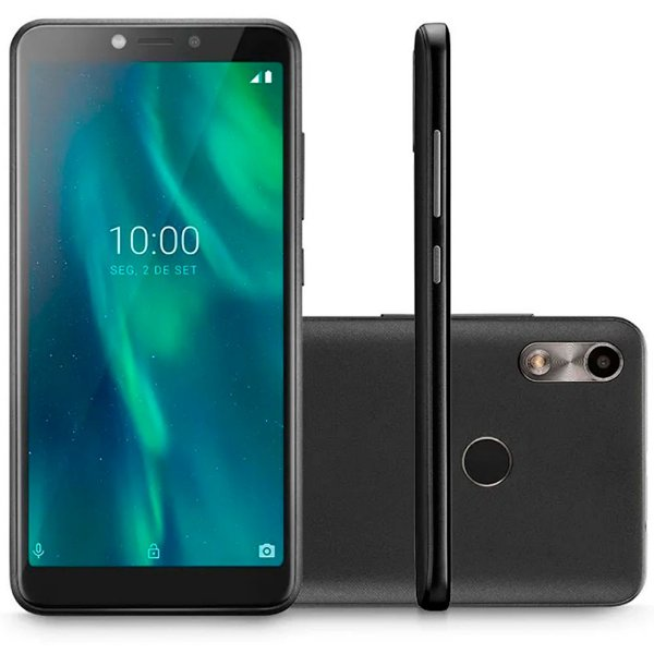 Smartphone Multilaser F P9105 16GB 3G Tela 5.5'' Câmera 5MP Frontal 5 MP Android 9 Preto Café