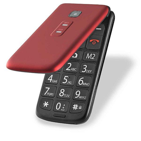 Celular Multilaser Flip Vita Dual Chip MP3 Vermelho - P9021