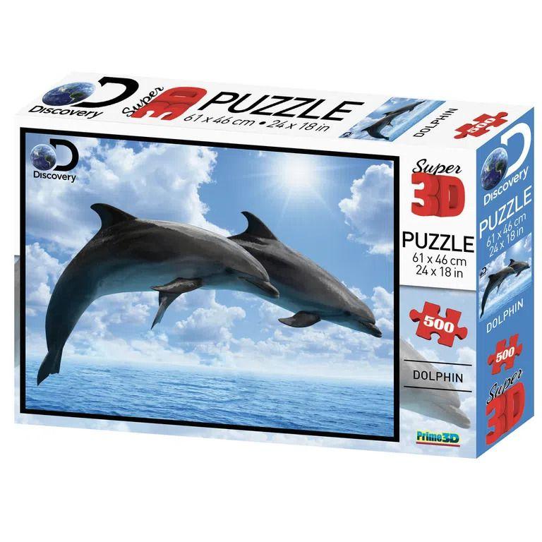 Quebra Cabeça Super 3D Golfinho 500 Peças - Multikids