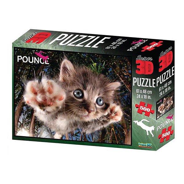 Quebra Cabeça Super 3D Modelo Gato com 500 Peças Multikids - BR1051