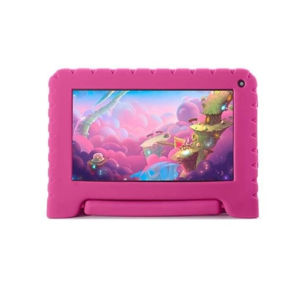 Tablet Multilaser Kid Pad Go NB303 Tela 7 Polegadas Quad Core 16GB Wi-Fi Câmera Frontal 1.3MP
