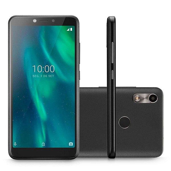 Smartphone Multilaser F Preto 3G 32GB 1GB Tela 5.5 Sensor de Digitais Câmera traseira 5MP + 5MP frontal  P9130