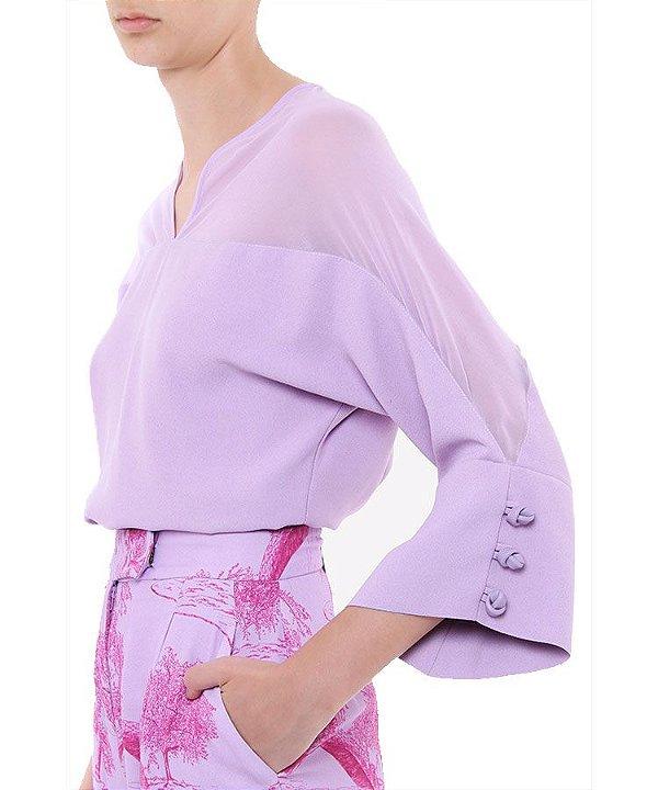 Blusa  mix de tecidos