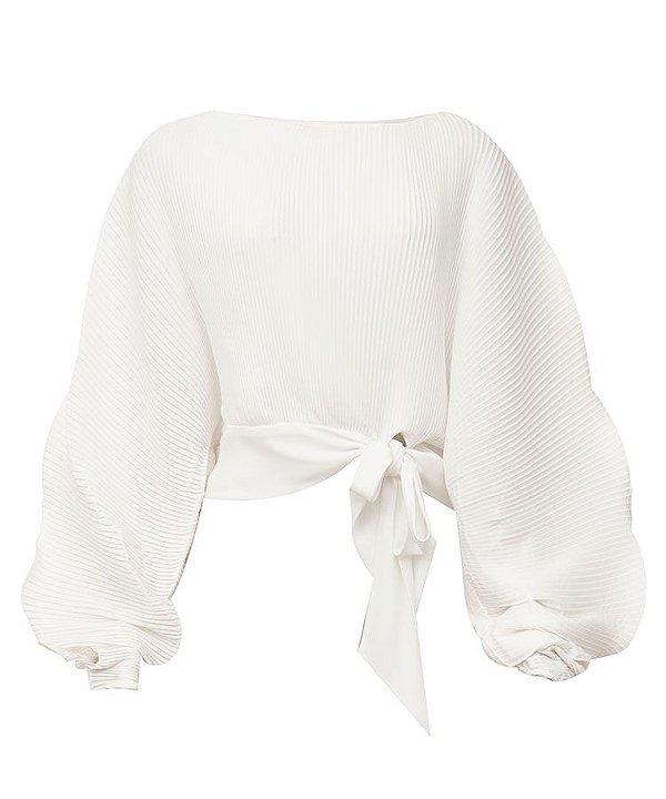 Blusa ampla amarração na cintura