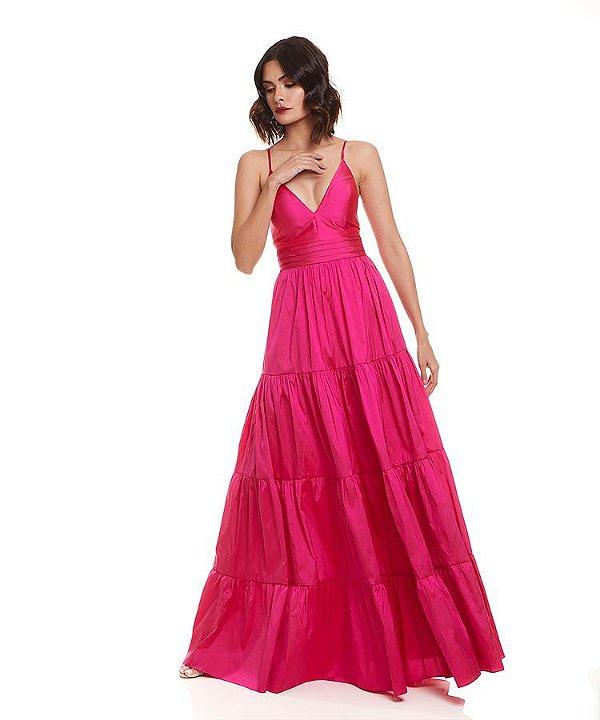 Vestido saia franzida
