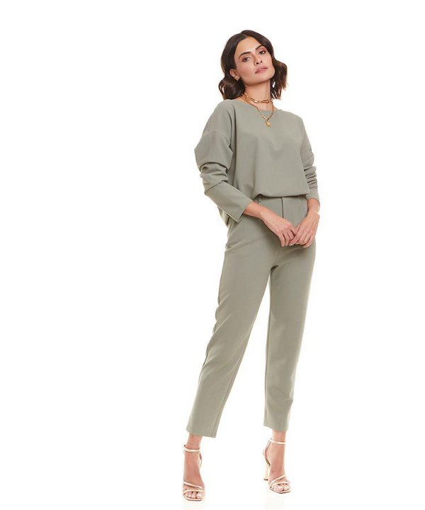 Conjunto blusa manga comprida e calça