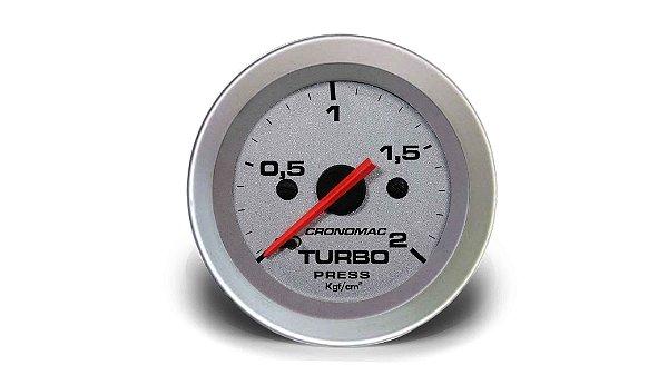MANÔMETRO TURBO 52MM MECÂNICO 2KG RACING (155302RT) CRONOMAC