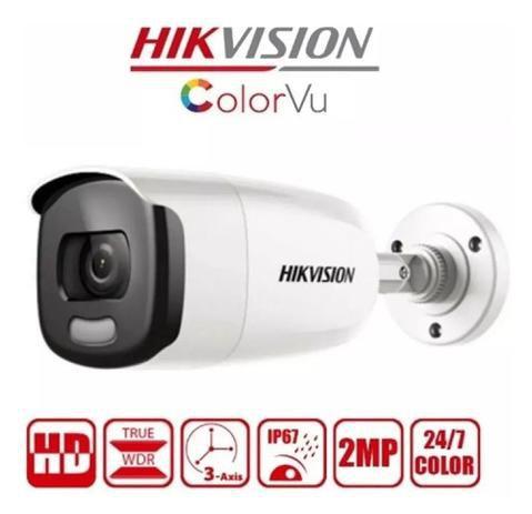 CAMERA COLORVU BULLET FULL HD 1080P 4-EM-1 - DS-2CE12DFT-FC(3.6MM) (Imagens ilustrativas)