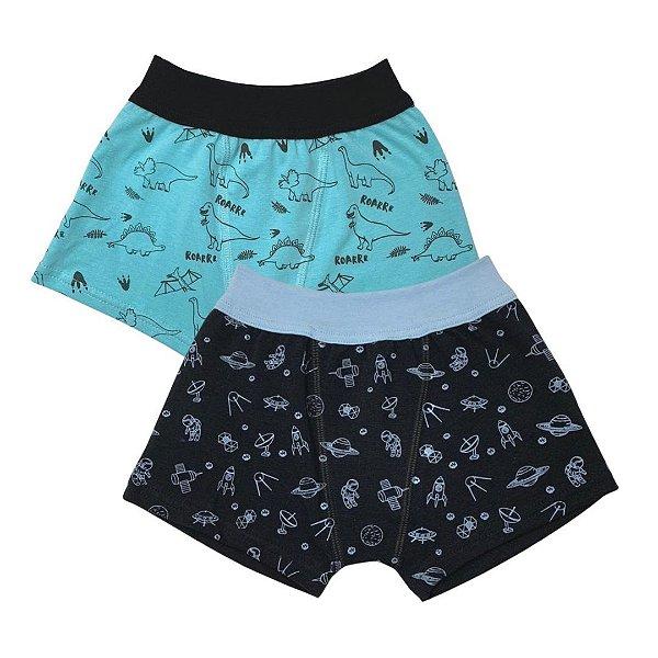 Ref:0065 Kit Infantil c/2 Cuecas Boxer Cotton.