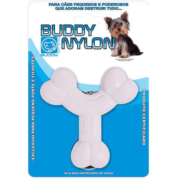 Brinquedo Buddy Toys Ossinho Branco para Filhotes