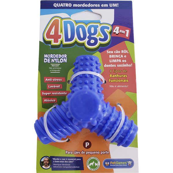 Brinquedo Mordedor Pet Games 4 Dogs Nylon (cores sortidas)