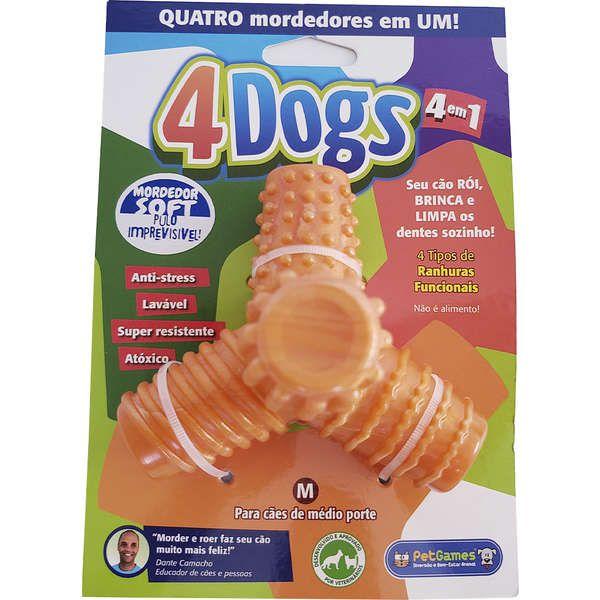 Brinquedo Mordedor Pet Games 4 Dogs Soft (cores sortidas)