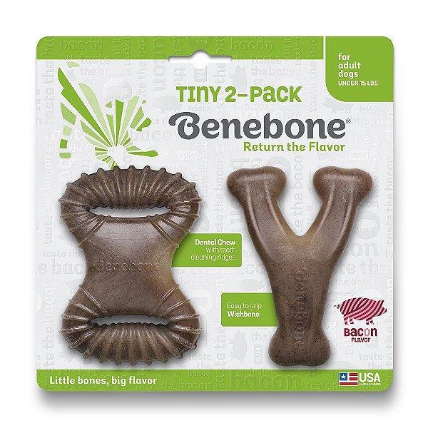 Brinquedo Benebone Tiny 2-Pack Bacon