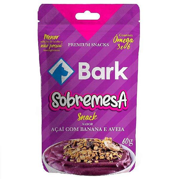 Snack Bark Sobremesa Açaí com Banana e Aveia para Cães