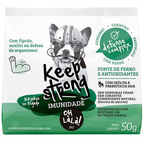 Bifinhos de Fígado OH LáLá! Pet Keep Strong Imunidade para Cães