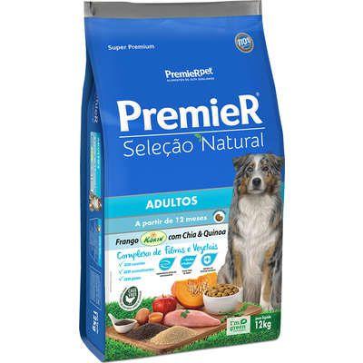 Ração Premier Pet Seleção Natural Frango Korin com Chia & Quinoa Cães Adultos Médio\Grande