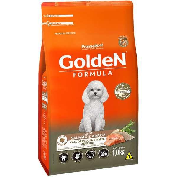 Ração Premier Golden Formula Mini Bits Salmão e Arroz para Cães Adultos de Raças Pequenas