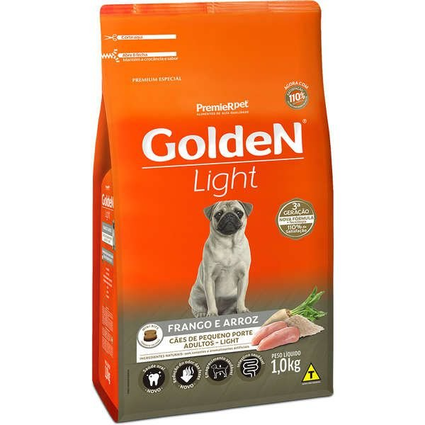 Ração Premier Golden Formula Cães Adultos Light Mini Bits Frango e Arroz