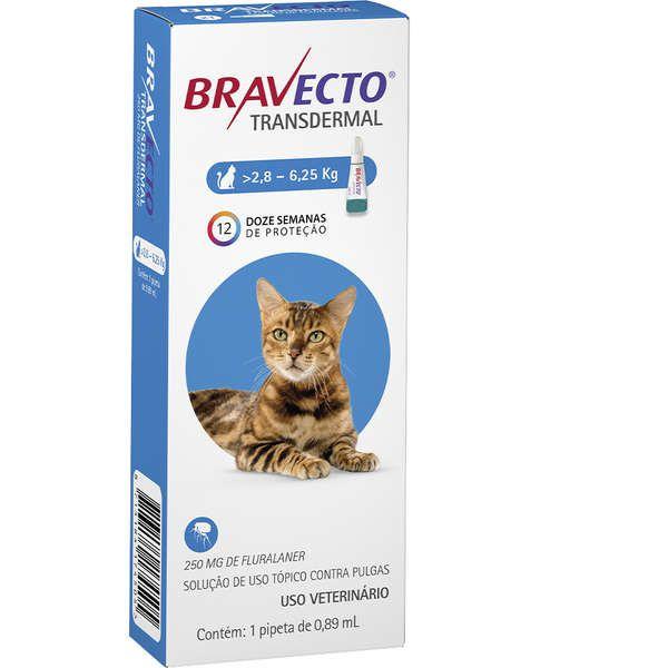 Antipulgas MSD Bravecto Transdermal para Gatos de 2,8 a 6,25 Kg