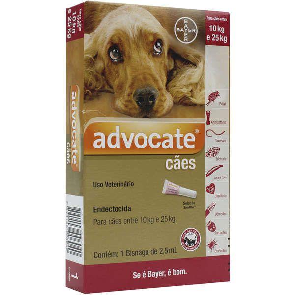 Antipulgas Bayer Advocate para Cães de 10 a 25 Kg - 2,5 mL